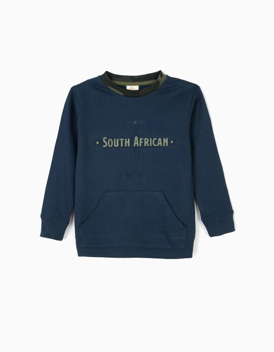 Sweatshirt para Menino 'South African', Azul Escuro