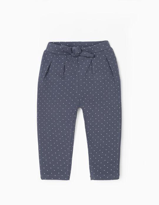 Pantalon de Sport Bébé Fille 'Dots', Bleu
