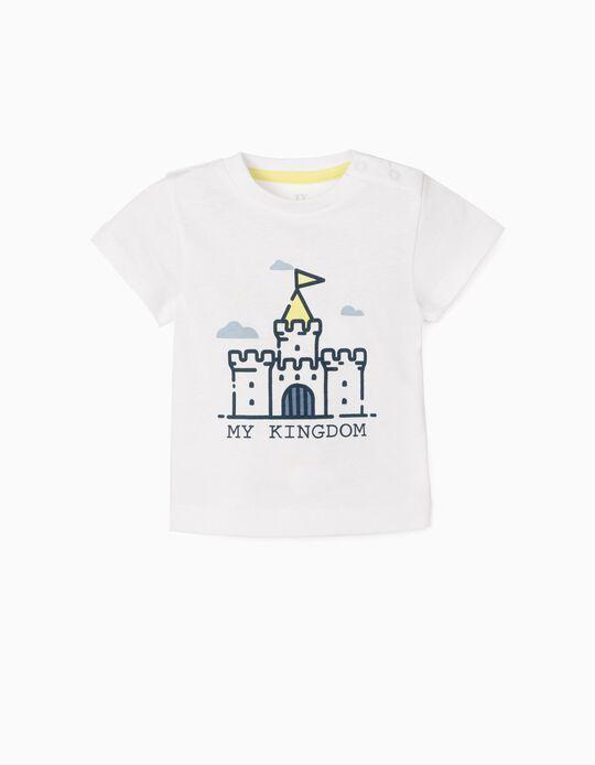 T-shirt for Newborn Baby Boys, 'My Kingdom', White