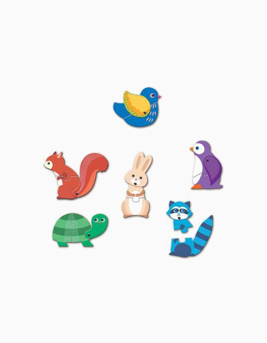 Puzle animales Djeco 12 piezas