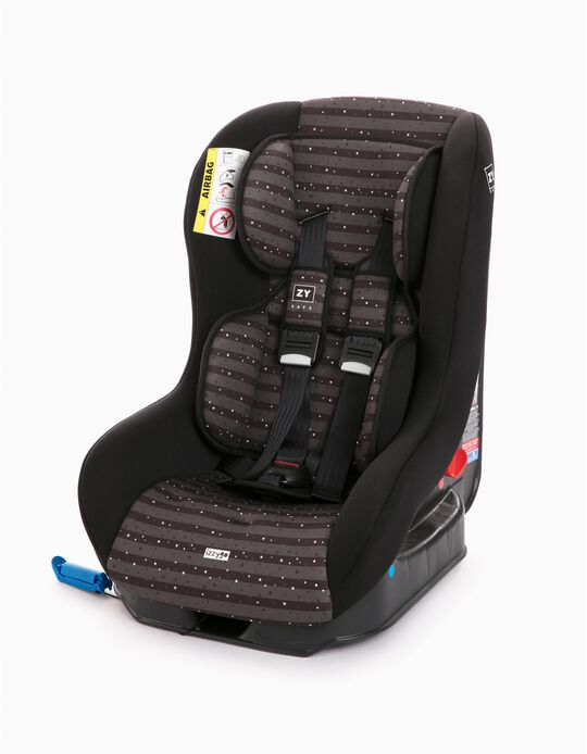 Car Seat Gr 0/1 Izzygo Plus Zy Safe Stars Black