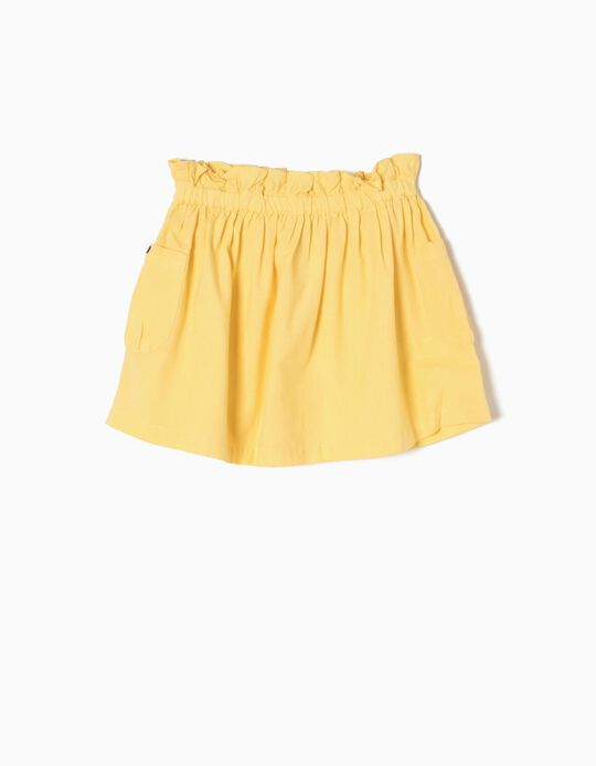 Falda de Lino Amarilla