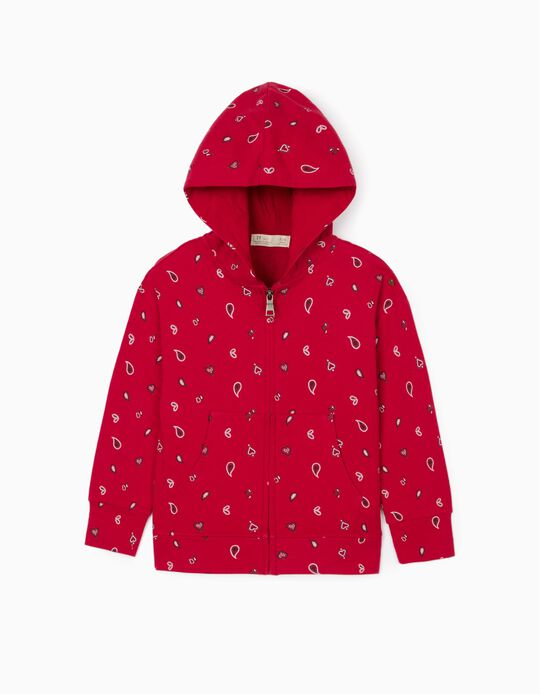 Hooded Jacket for Girls, Red