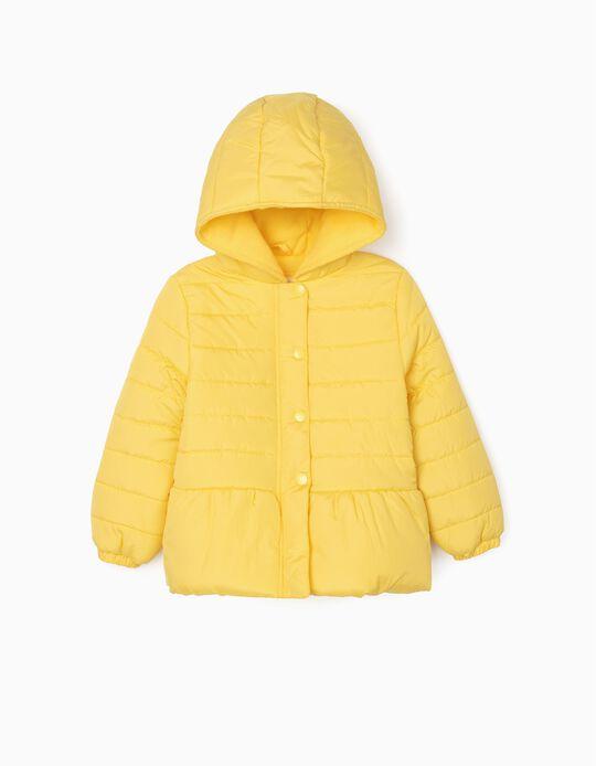 Blusão Acolchoado para Menina, Amarelo