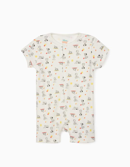 Sleepsuit for Baby Boys, '101 Dalmatians', White