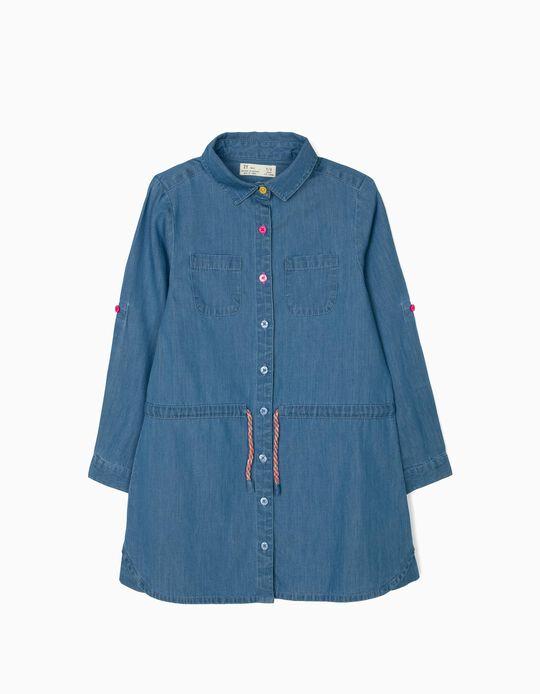 Vestido Denim para Niña, Azul