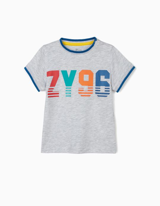 Camiseta para Bebé Niño 'ZY 96', Gris
