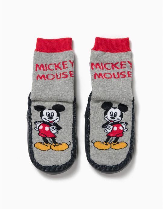 Meias-Pantufa Antiderrapantes Mickey