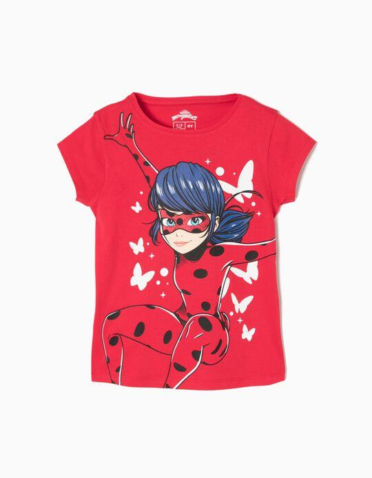 Camiseta Ladybug & Mariposas Roja