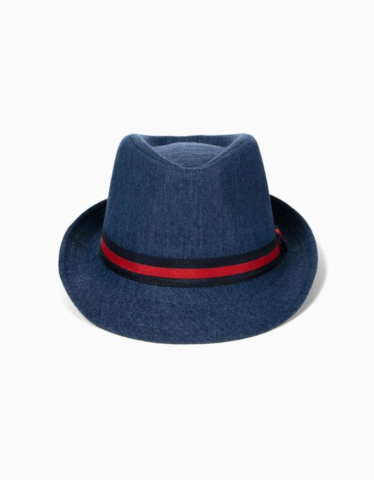 Denim Hat for Boys, Blue