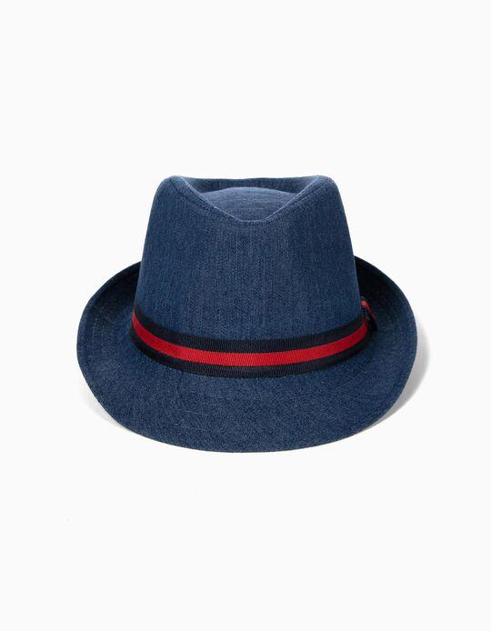 Chapéu Denim para Menino, Azul
