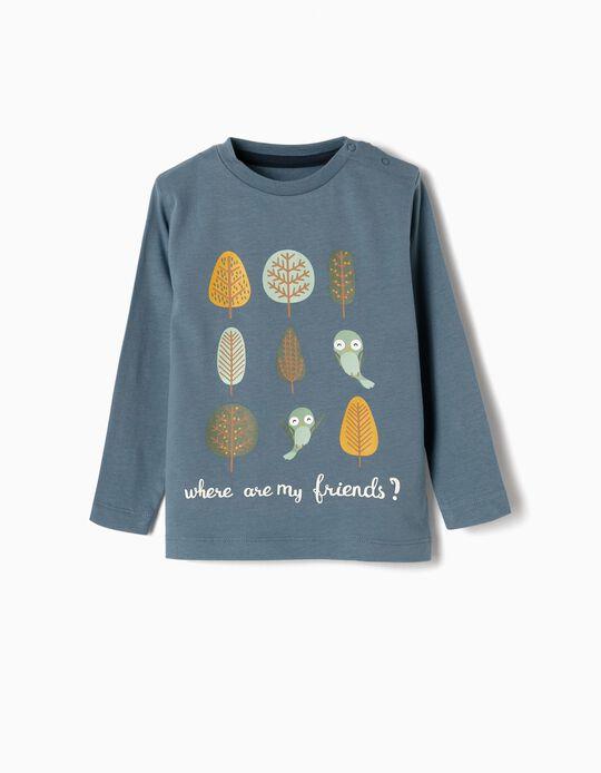 Camiseta de Manga Larga para Bebé Niño 'Friends', Azul