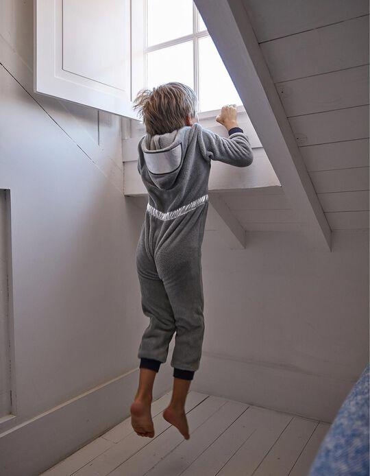 Pijama-Macacão para Menino 'Astronaut', Cinza