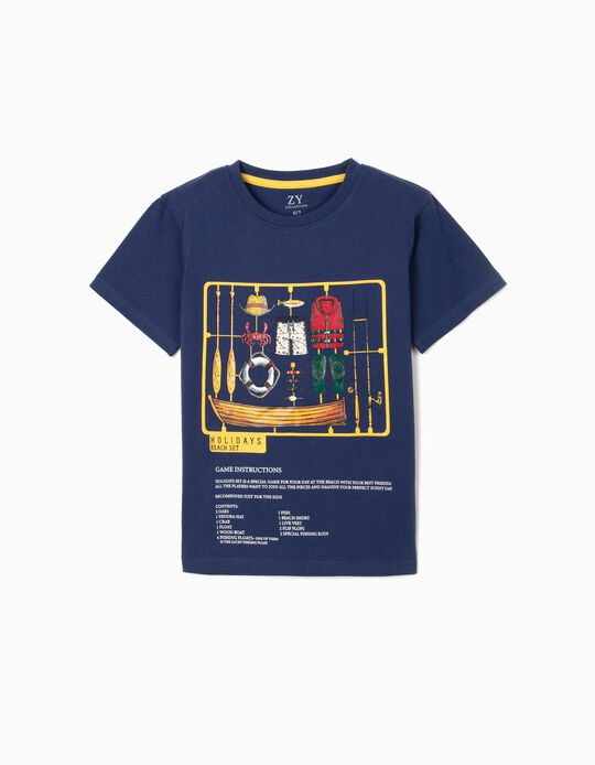 Camiseta para Niño 'Holidays Set', Azul