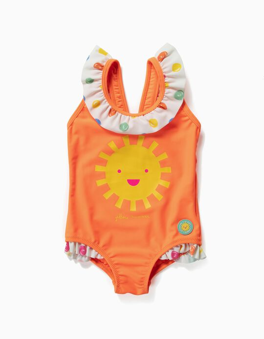 Bañador para Bebé Niña 'Yellow Summer', Naranja