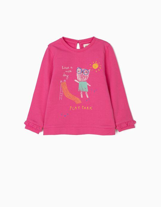 Sweatshirt para Bebé Menina 'Playpark', Rosa