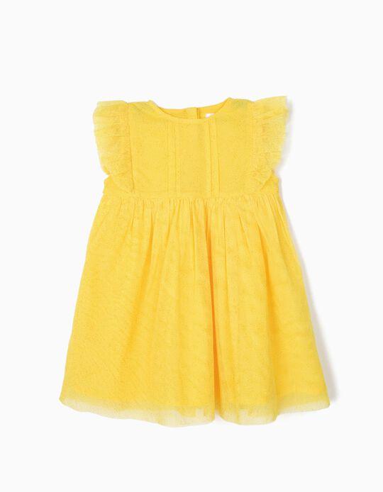 Vestido de Tul para Bebé Niña, Amarillo