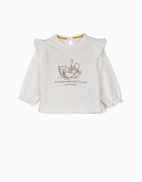Camiseta de Manga Larga Winnie The Pooh Blanca