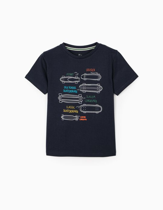 T-Shirt for Boys 'Boards', Dark Blue