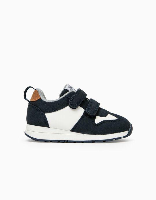 Sapatilhas para Bebé Menino 'ZY 96', Azul Escuro/Branco