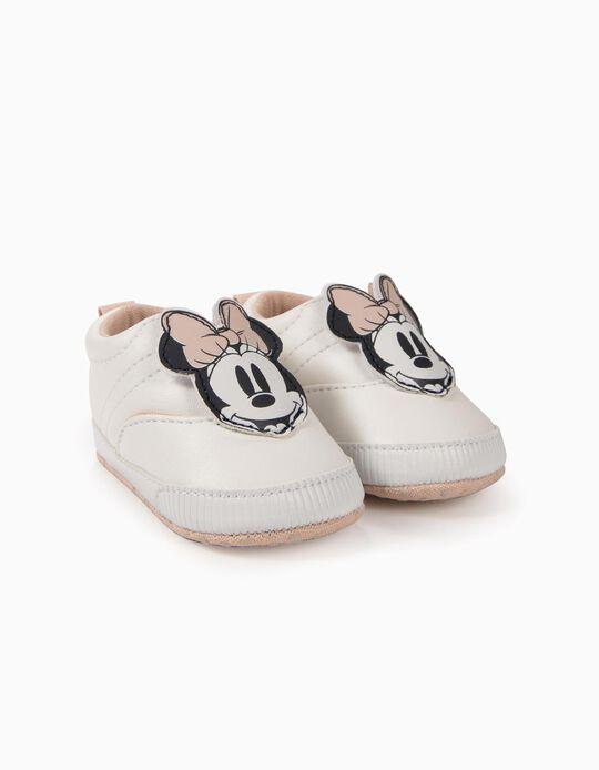 Zapatillas para Recién Nacida 'Minnie', Blancas