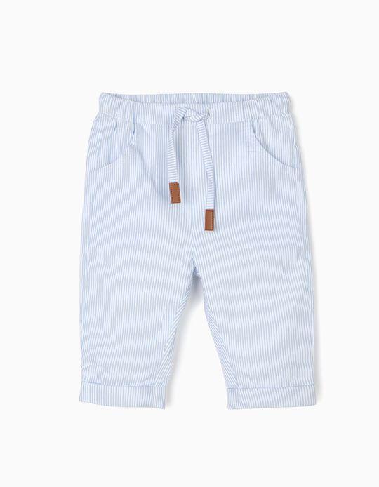 Pantalón para Recién Nacido a Rayas, Azul
