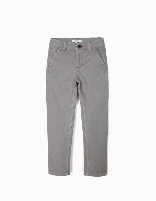 Pantalón Chino para Niño, Gris