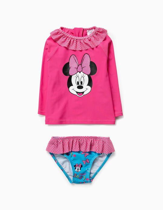 T-shirt e Cuecas de Banho para Bebé Menina 'Minnie' Anti-UV 80, Rosa