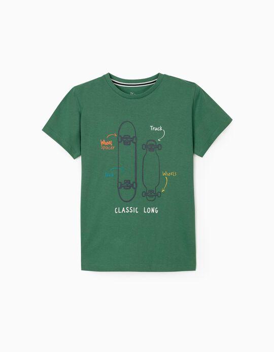 T-Shirt for Boys 'Classic Long', Green