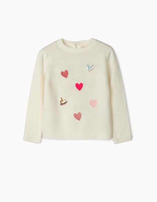 Jersey para Niña 'Hearts', Blanco