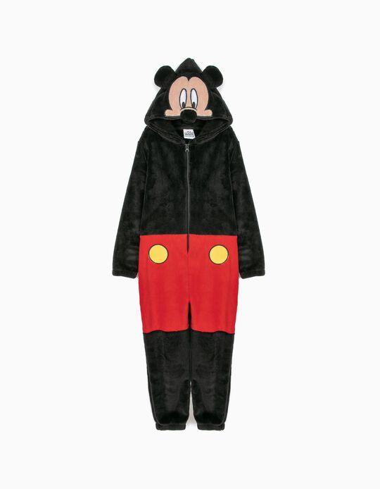 Pijama-Macacão com Capuz Mickey