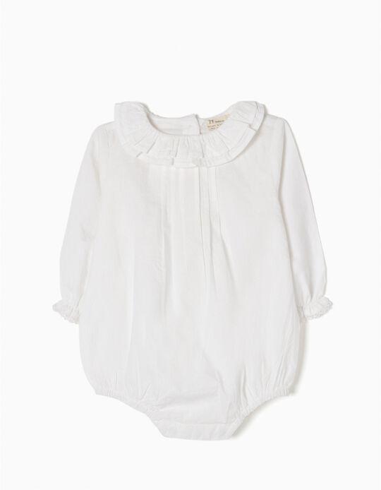 Body Blusa Blanco con Volantes