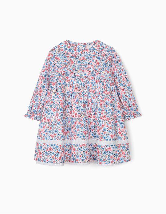 Vestido de Flores para Bebé Niña, Multicolor