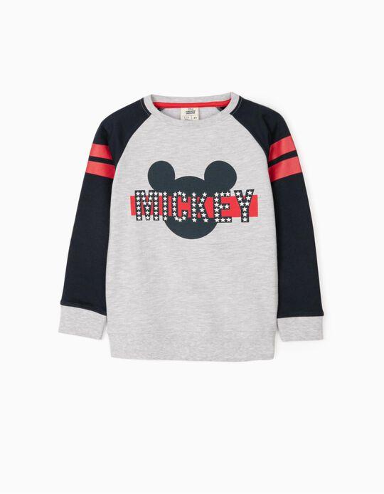 Sudadera para Niño 'Mickey', Gris/Azul Oscuro