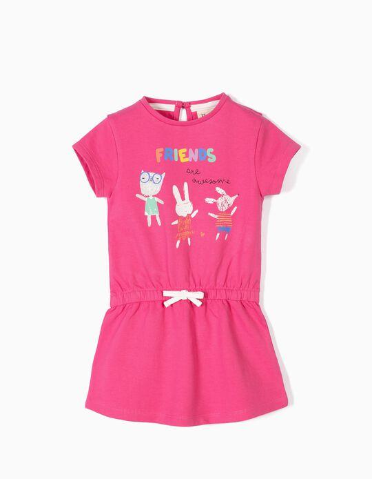 Vestido para Bebé Niña 'Friends Are Awesome', Rosa