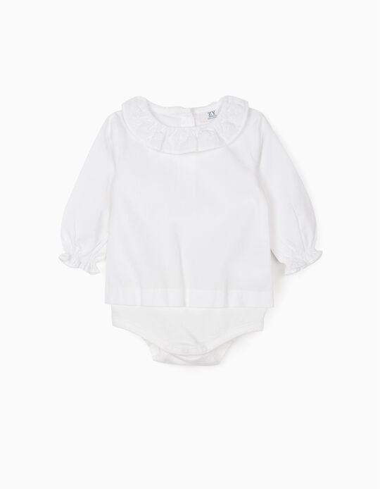 Body Blusa para Bebé Niña, Blanco