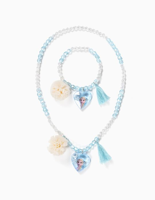 Necklace and Bracelet for Girls, 'Frozen II', Blue