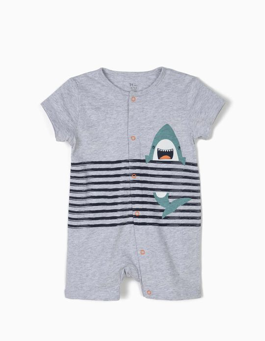 Babygrow para Bebé Menino 'Shark', Cinza