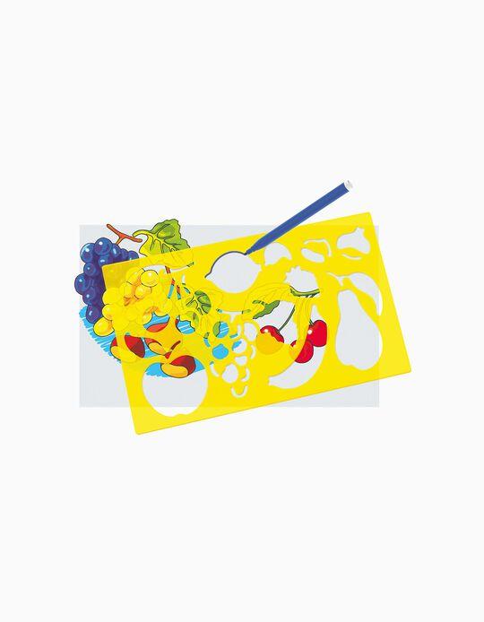 Juego Stencil Frutas y Verduras Quercetti