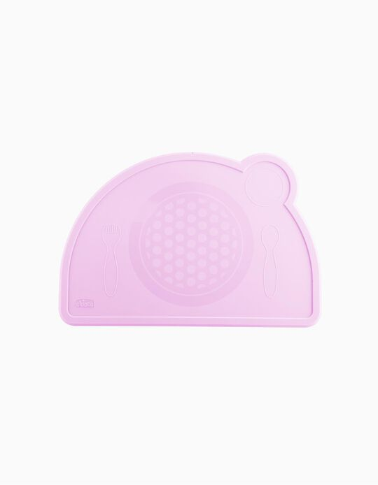 Tabuleiro Silicone Eat Easy Chicco Pink