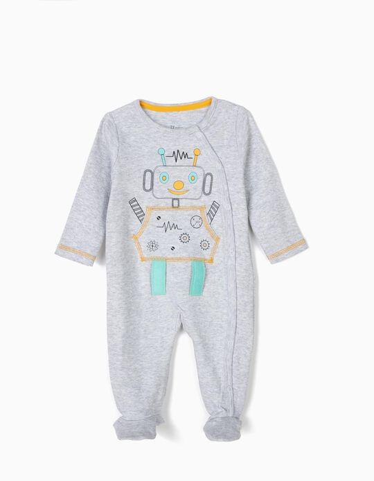 Babygrow para Recém-Nascido 'Robots', Cinza