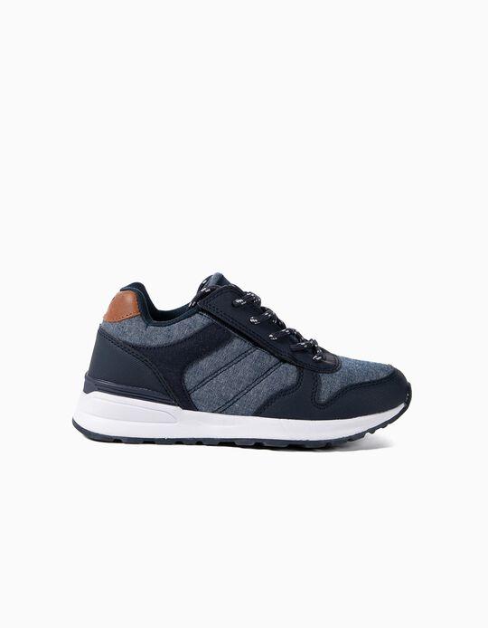Zapatillas de Dos Materias para Niño ZY Easy, Azul