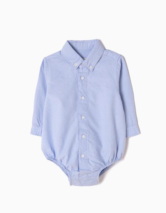 Body-Camisa para Recém-Nascido, Azul