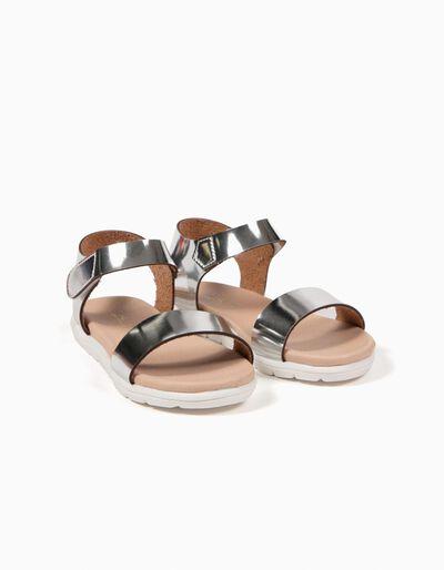 Sandálias Metalizadas