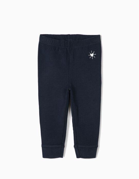 Pantalón de Chándal para Bebé Niña 'Love', Azul Escuro