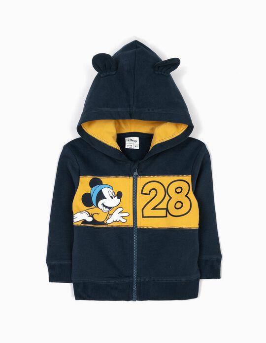 Casaco com Capuz Mickey 28 Azul