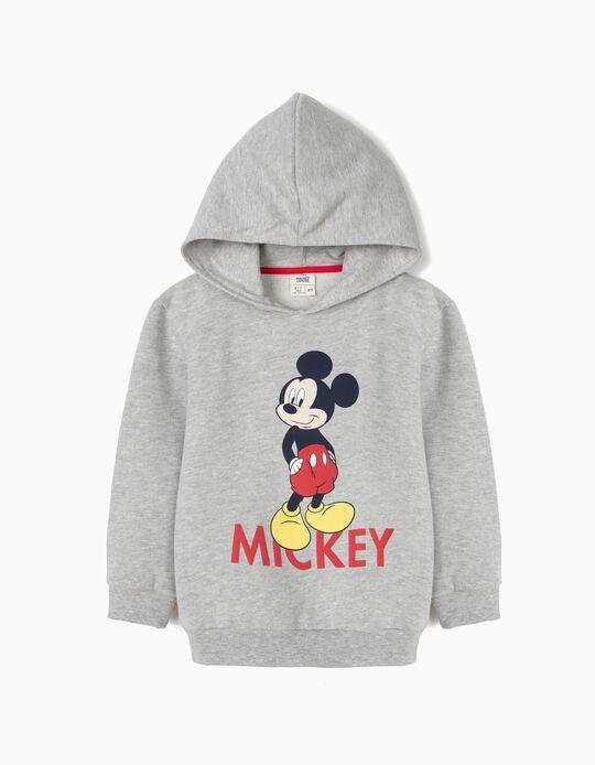 Sweatshirt com Capuz para Menino 'Mickey', Cinza