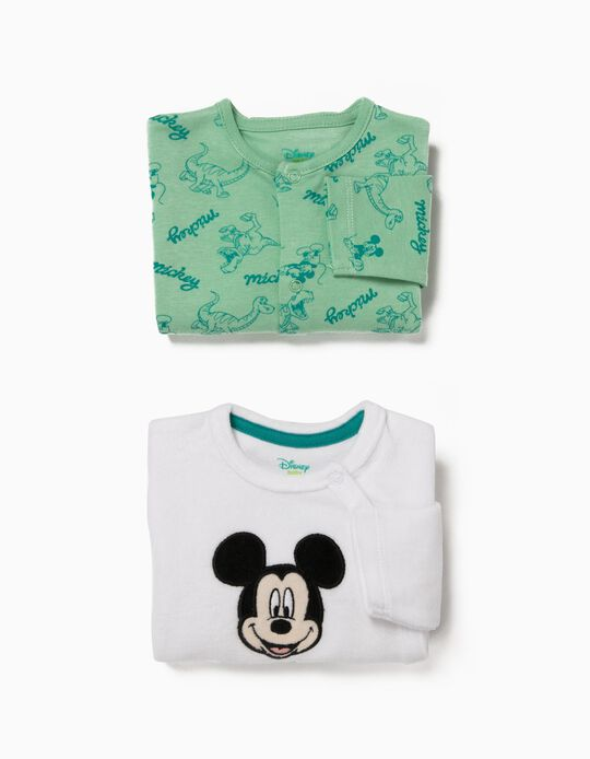 Pack 2 Babygrows Manga Comprida Mickey