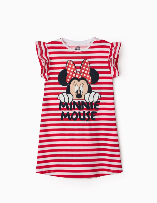 Robe rayée fille 'Minnie Mouse', rouge/blanc