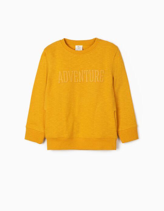 Sweat garçon 'Adventure', jaune